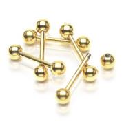 Zlatý piercing do jazyka SEGDPB