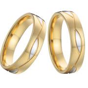 Oceľové snubné prstienky kombinovanej SPPL006-BK