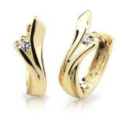 Zlaté naušnice so zirkónmi Cutie Jewellery Z6434Z