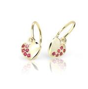 Zlaté detské náušnice Cutie Jewellery C2160Z-Tcf Red