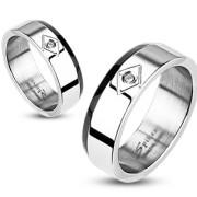 Oceľový prsteň Spikes 1007