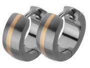 Náušnice krúžky z titánu SETE002-2T