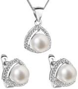 Súprava perlových strieborných šperkov 29011.1