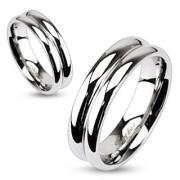 Oceľový prsteň Spikes 2055
