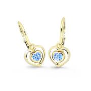 Detské zlate naušnice Cutie Jewellery C2752Z-Arctic Blue