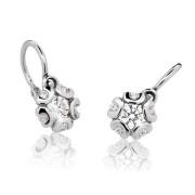 Detské náušnice Cutie Jewellery C2178B CZ White -Biele zlato 585/000