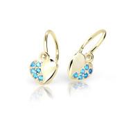 Zlaté detské náušnice Cutie Jewellery C2160Z-Arctic Blue