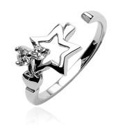 Strieborný prsteň s0 zirkónmi 031
