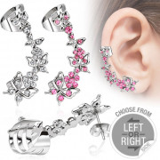 Piercing do ucha motýlky 13287-pink