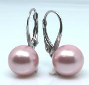 Dámske strieborné náušnice s perlou 305055-Rose