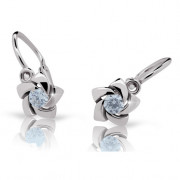 Detské náušnice Cutie Jewellry C2201B Arctic Blue -Biele zlato 585/000