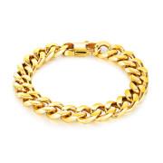 Zlatý náramok z chirurgickej ocele SEGS720-14GD