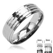 Oceľový prsteň Spikes SERH1597