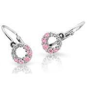 Zlate detské naušnice Cutie Jewellery C2154B-Pink
