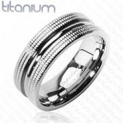Titanový prsteň Spikes 3601