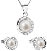 Strieborná súprava perlových šperkov 29022.1