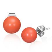Oceľové náušnice SESSE0100 - Orange