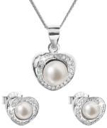 Perlová súprava strieborných šperkov 29025.1