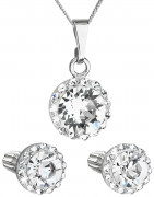 Strieborný set šperkov Swarovski elements 39352.1 Biela