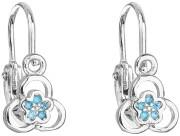 Detské strieborné náušnice kvetinky 11171.3 Modrá