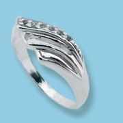 Strieborný prsteň so zirkónmi 1625004