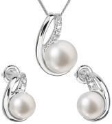 Súprava perlových strieborných šperkov 29042.1