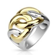 Oceľový prsteň Spikes 1084