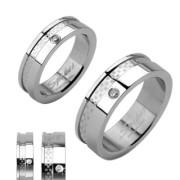 Oceľový prsteň Spikes 1005