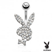 Piercing do pupiku Playboy 025-CZ