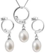 Strieborná súprava šperkov s riečnymi perlami 29030.1