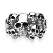 Oceľový prsteň Spikes-7684
