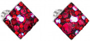 Strieborné náušnice Swarovski 31169.3 Cherry