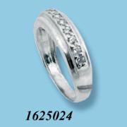 Strieborný prsteň so zirkónmi 1625024