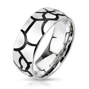 Oceľový prsteň Spikes 2183