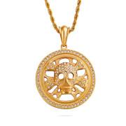 Oceľový náhrdelník lebka WJHC252