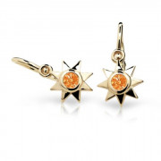 Detske naušnice zlaté C1995Z-Orange