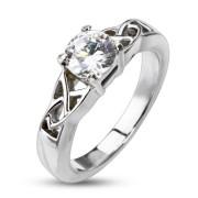 Oceľový prsteň Spikes 2178