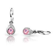 Náušnice pre babatko zlate Cutie Jewellery C1898B Pink