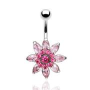 Piercing pupku 6095 - Rose