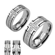 Oceľový prsten Spikes 1004