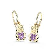 Detské zlate naušnice Cutie Jewellery C2751Z Medvedík