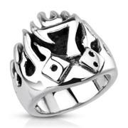 Oceľový prsteň Spikes 3992