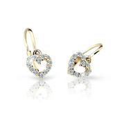 Detské zlate náušnice Cutie Jewellery C2157Z-White