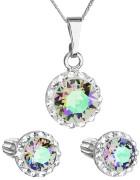 Set strieborných šperkov Swarovski elements 39352.5 Paradise shine