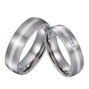 Svadobné prstene so zirkónmi SPPL036