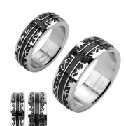 Oceľový prsteň SERH1001
