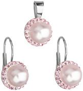 Strieborná súprava šperkov Swarovski elements 39091.3 Rose