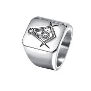 Oceľový pečatný prsteň pre mužov JCF628S-Slobodomurári