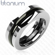 Titanový prsteň Spikes 0804