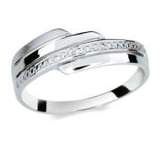 Strieborný prsteň so zirkónmi 1844